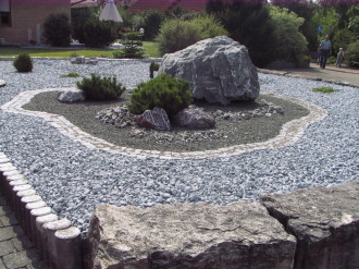 Gartengestaltungsideen mit zierkies