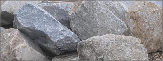 Wasserbaustein Granit gemischt farbig