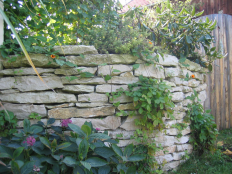 Mauerplatten aus Jura-Kalk