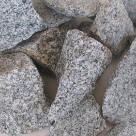 Ziersplitt Granit hellblaugrau