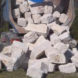 Kippen von Mauersteinen