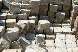 Pflastersteine Granit gelb