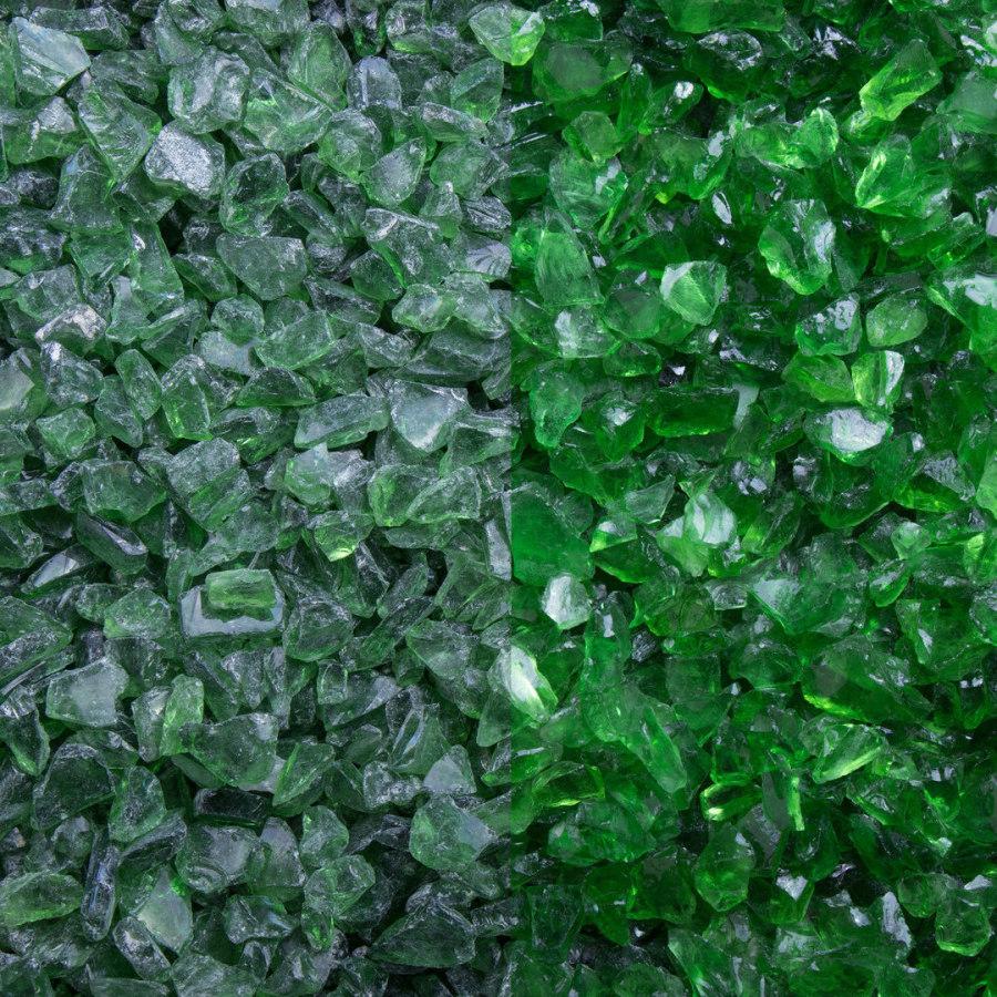 Ziersplitt Glas grün