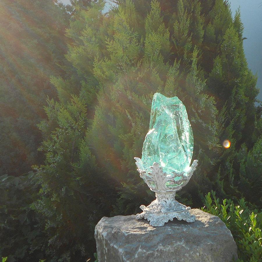 Glas Ziersplitt türkis