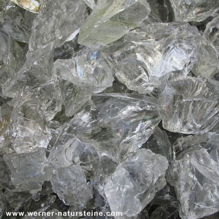 Glassteine Gabione durchsichtig