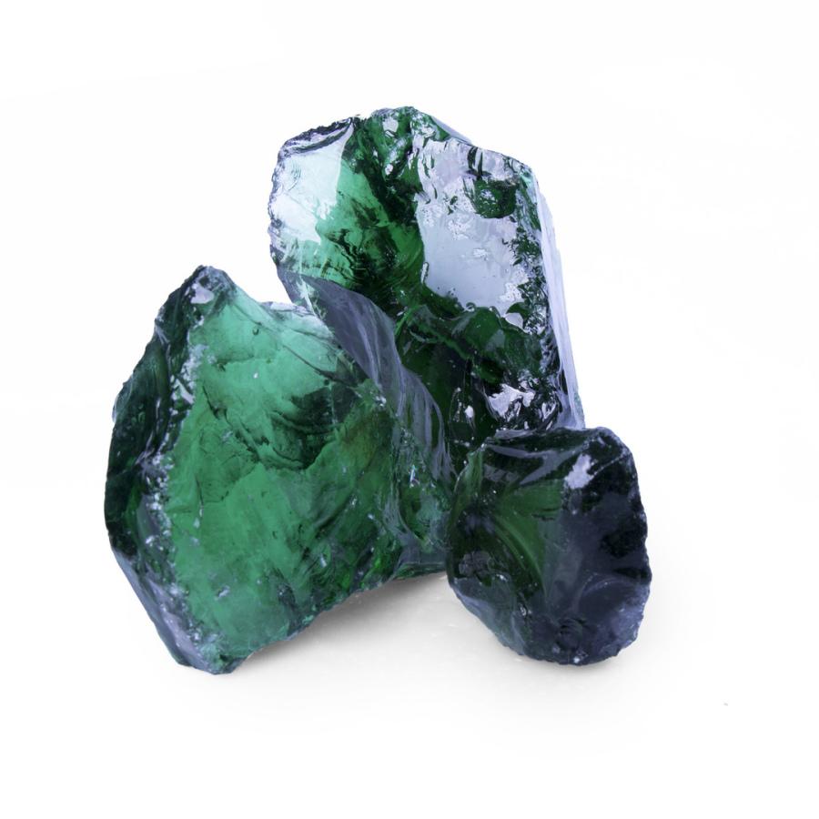 Glassteine Gabione grün