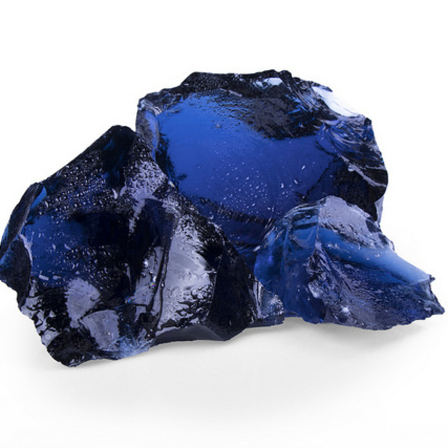 Glas dunkelblau Gabionen