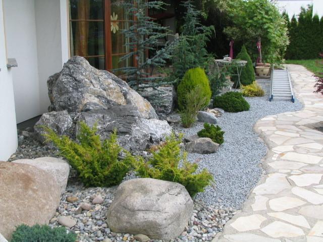 Immergrüne Pflanzen Für Kiesbeet ideen kiesbeete und splittbeete | werner natursteine